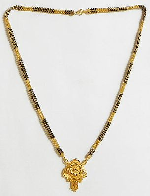 Black Beaded Mangalsutra
