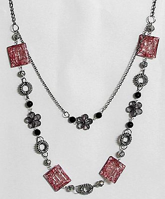 Metal and Acrylic Necklace
