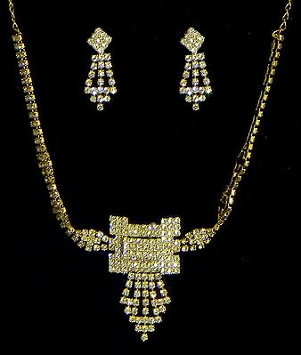 White Stone Studded Necklace