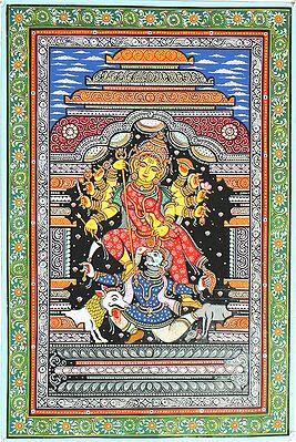 Devi Durga Slaying Demon Mahishasura