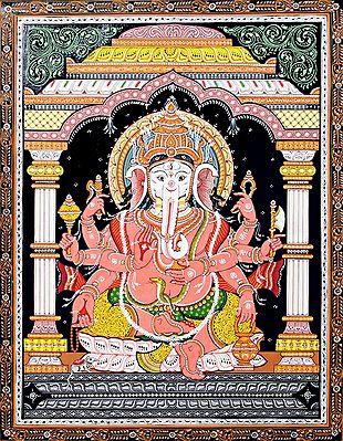 Eight Handed Ganesha