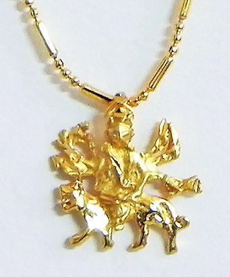 Gold Plated Bhagawati Pendant