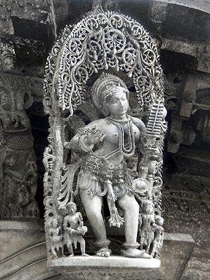 Apsara - Temple Sculpture from Belur, Karnataka, India