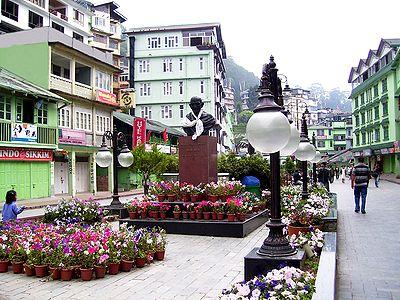 M.G Road Market During Spring, Gangtok - East Sikkim, India