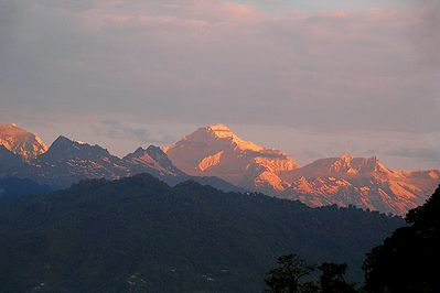 Kangchenjunga at Sunset from Ganesh Tok, Gangtok - Sikkim, India
