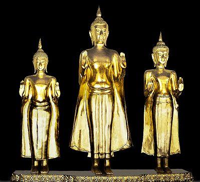Three Buddha Statues, Bangkok - Thailand