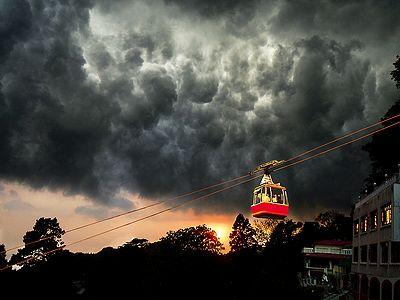Impending Storm in Mussoorie - Uttarakhand, India