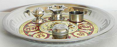 Meenakari Ritual Thali with Ritual Accessories