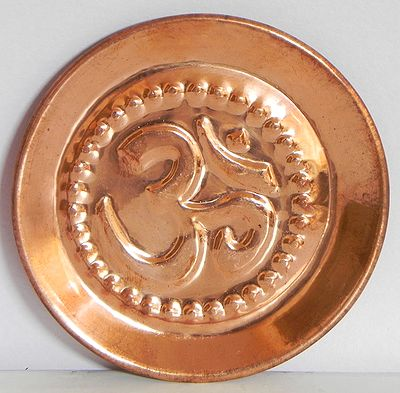 Ritual Copper Plate with Om