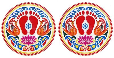 Set of Two Colorful Sticker Lakshmi Charan  Print on Transparent Sheet