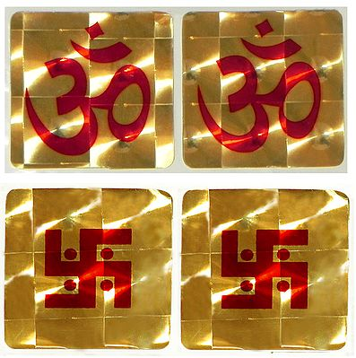Aum and Swastika (Auspicious Hindu Symbols)
