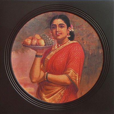 Maharashtrian Lady (Deco Painting) - Wall Hanging