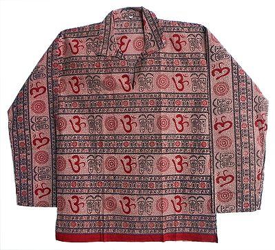 Full Sleeve Short Kurta with Gayatri Mantra