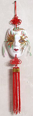 Painted Mask - Wall Hanging