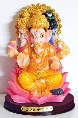 Brahma, Shiva and Ganesha