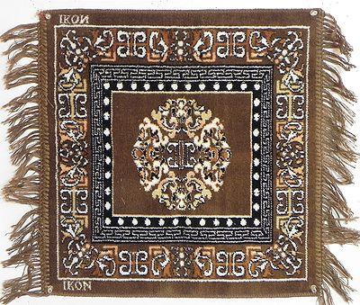 Light Brown Velvet Ritual Mat