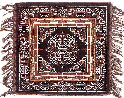 Dark Brown Velvet Ritual Mat