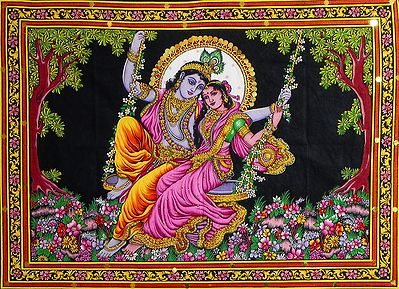 Radha Krishna on a Secret Rendezvous