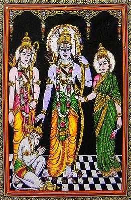Ram, Lakshman, Sita and Hanuman