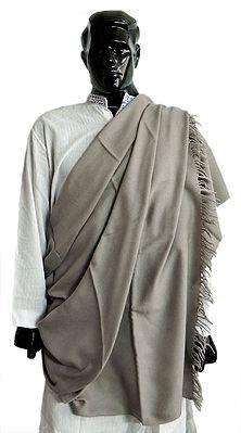 Plain Khaki Color Woolen Mens Shawl