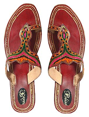 Embroidered Ladies Sandal