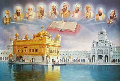 The Golden Temple, Guru Granth Sahib and the Ten Sikh Gurus