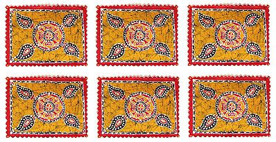 Six Cloth Batik Dining Table Mats