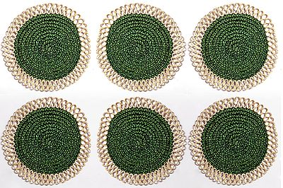 Six Hand Woven Round Dining Table Mats