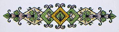 Green with Golden Glitter Tattoo
