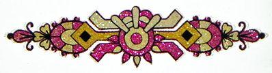 Magenta with Golden Glitter Tattoo