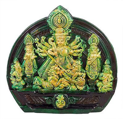 Mahishasuramardini Durga Terracotta Statue