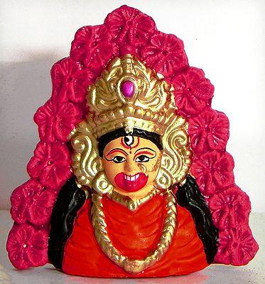 Face of Tara Peeth Kali