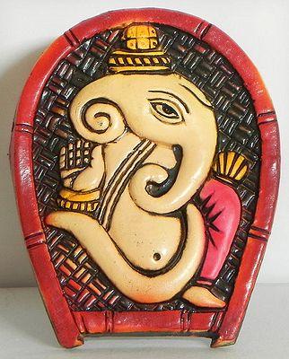 Om Ganesha on Winnow- Wall Hanging