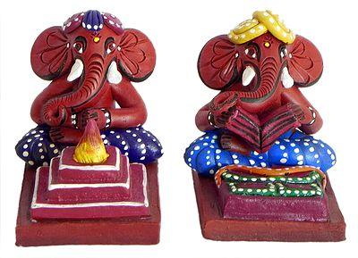 Ganesha as Priest Performing Puja