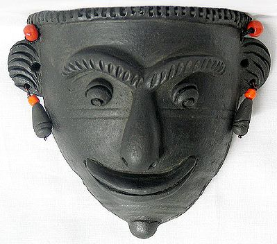 Tribal Mask - Terracotta Wall Hanging