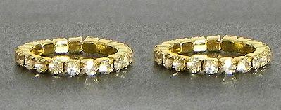 White Stone Studded Stretchable Golden Toe Ring