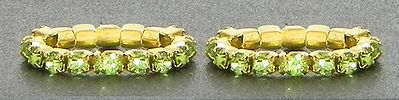 Light Green Stone Studded Stretchable Toe Ring