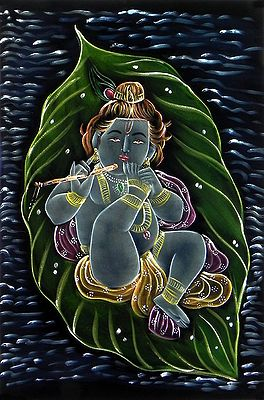 Bal Gopala Lying on a Leaf