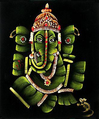 Lord Ganesha as Indian Bridegroom