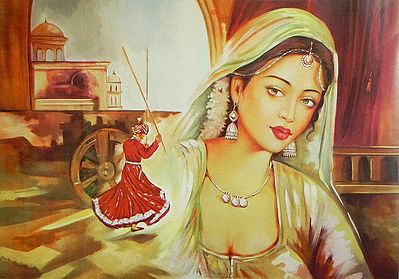 Rajasthani Beauty Dreaming of a Dancer