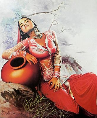 Sohni Dreaming about Her Lover Mahiwal