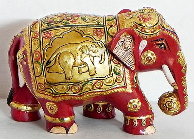 Decorated Royal Red Elephant