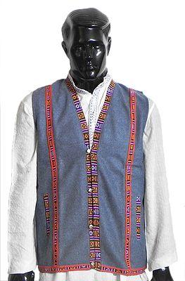 Sleeveless Himachali Woolen Half Jacket (For Men)