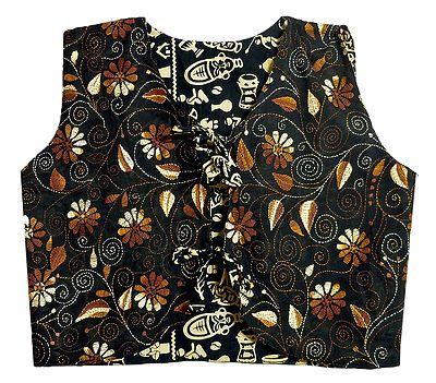Kantha Stitch on Black Sleeveless Reversible Ladies Jacket
