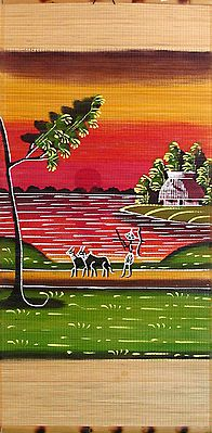 Farmer Going to his Fields - (Wall Hanging)