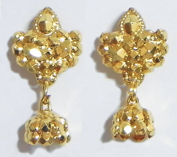 Gold Plated Small jhumka Earrings