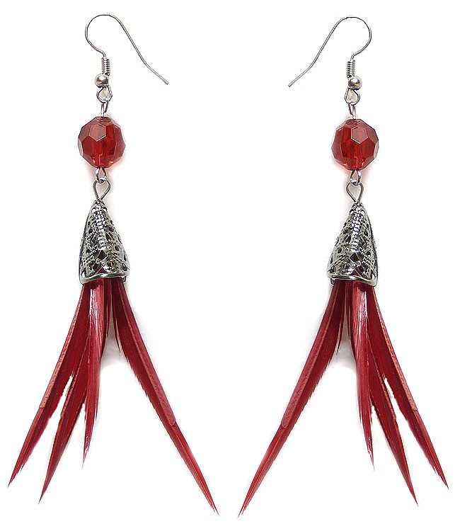 Cord DollsofIndia Lacquered Metal Pendant and Earrings 15 inches OQ18