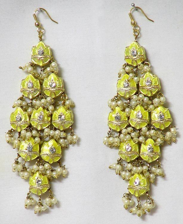 international fei cascade earrings designer liu cas lui fl double