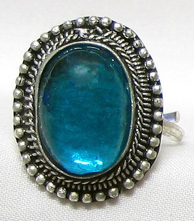 Light Blue Stone Setting Ring. Click To Expand