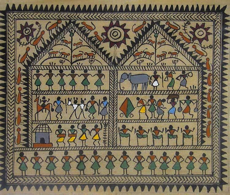 Images Of Simple Warli Painting